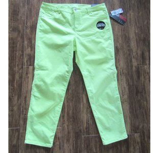 Style & Co Green Slim Ankle Pants 16